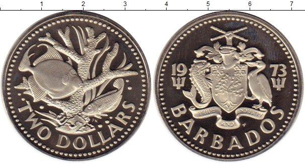 Картинка Монеты Барбадос 2 доллара Медно-никель 1973