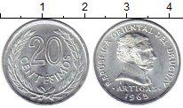 Изображение Монеты Уругвай 20 сентесим 1965 Алюминий UNC-