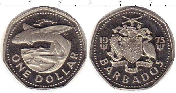 Картинка Монеты Барбадос 1 доллар Медно-никель 1975