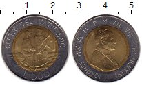 Изображение Монеты Ватикан 500 лир 1986 Биметалл UNC