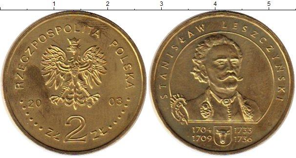 Картинка Монеты Польша 2 злотых Латунь 2003