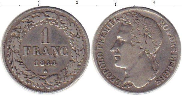 Картинка Монеты Бельгия 1 франк Серебро 1844
