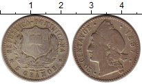 Изображение Монеты Доминиканская республика 20 сентаво 1897 Серебро VF