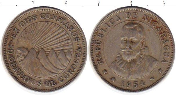 Картинка Монеты Никарагуа 50 сентаво Медно-никель 1954