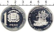Изображение Монеты Доминиканская республика 1 песо 1989 Серебро UNC-