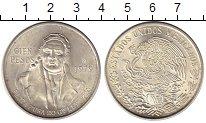 Монета Мексика 100 песо Серебро 1979 UNC- фото
