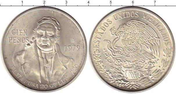 Картинка Монеты Мексика 100 песо Серебро 1979