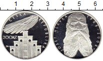Изображение Монеты Чехия 200 крон 2008 Серебро Proof