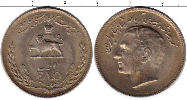 Картинка Монеты Иран 10 риалов Медно-никель 1969