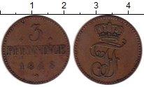 Изображение Монеты Германия Мекленбург-Шверин 3 пфеннига 1848 Медь XF