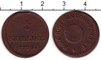 Изображение Монеты Швеция 1/4 скиллинга 1799 Медь XF