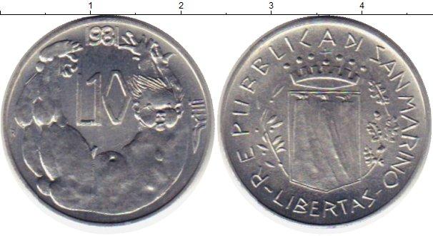 Картинка Монеты Сан-Марино 10 лир Алюминий 1981