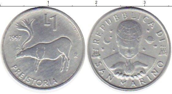 Картинка Монеты Сан-Марино 1 лира Алюминий 1997