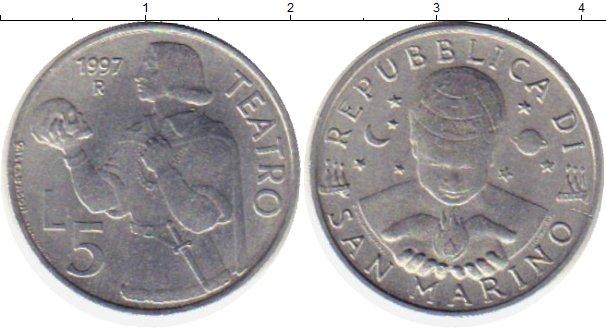 Картинка Монеты Сан-Марино 5 лир Алюминий 1997