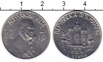 Изображение Монеты Сан-Марино 10 лир 1981 Алюминий UNC