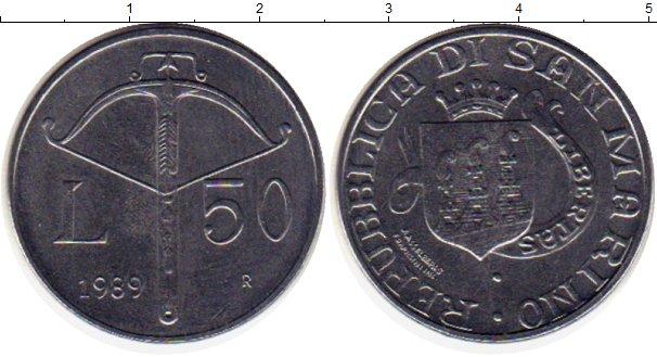 Картинка Монеты Сан-Марино 50 лир Сталь 1989