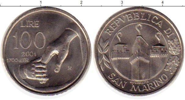 Картинка Монеты Сан-Марино 100 лир Медно-никель 2001