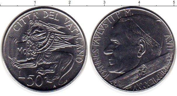 Картинка Монеты Ватикан 50 лир Сталь 1985