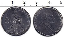 Изображение Монеты Ватикан 50 лир 1986 Сталь UNC