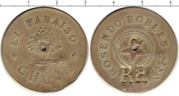 Картинка Монеты Гватемала Жетон Латунь 0