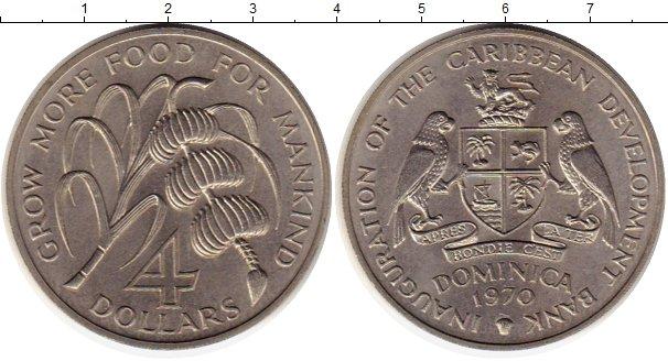 Картинка Монеты Доминиканская республика 4 доллара Медно-никель 1970