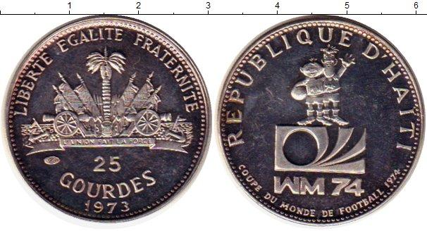 Картинка Монеты Гаити 25 гурдес Серебро 1973