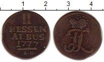 Изображение Монеты Германия Гессен 2 альбуса 1777 Медь VF
