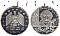Монета Германия 10 евро Серебро 2014 Proof- фото