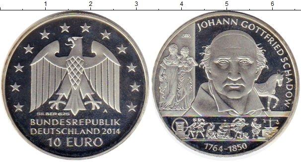 Картинка Монеты Германия 10 евро Серебро 2014