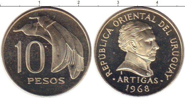 Картинка Монеты Уругвай 10 песо Медно-никель 1968