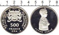 Изображение Монеты Бенин Дагомея 500 франков 1971 Серебро Proof-