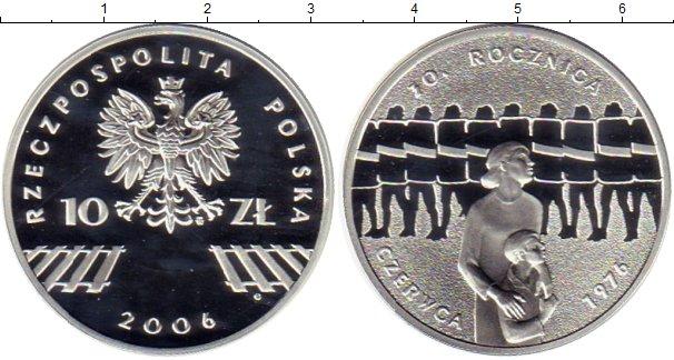 Картинка Монеты Польша 10 злотых Серебро 2006