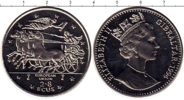 Картинка Монеты Гибралтар 2,8 экю Медно-никель 1994