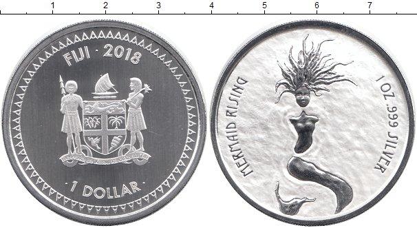 Картинка Монеты Фиджи 1 доллар Серебро 2018