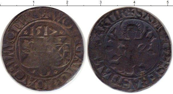 Картинка Монеты Вюртемберг 1 батзен Серебро 1512