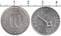 Изображение Монеты Германия Бремен 10 пфеннигов 1924 Алюминий XF+