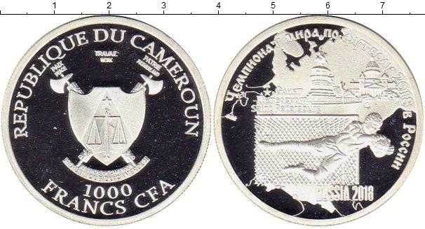 Картинка Монеты Камерун 1.000 франков Серебро 2018