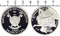 Изображение Монеты Камерун 1000 франков 2018 Серебро Proof
