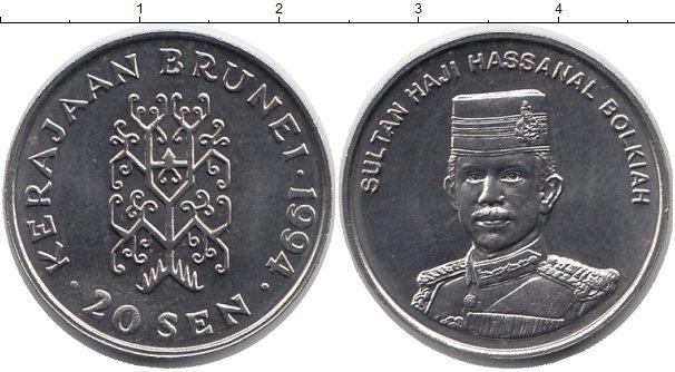 Картинка Монеты Бруней 20 сен Медно-никель 1994