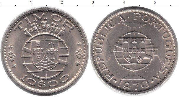 Картинка Монеты Тимор 10 эскудо Медно-никель 1970