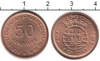 Изображение Монеты Тимор 50 сентаво 1970 Бронза UNC-