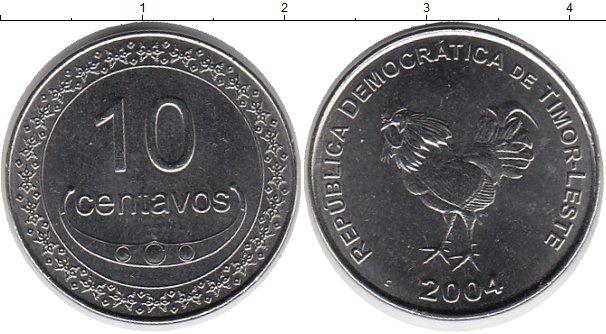 Картинка Монеты Тимор 10 сентаво Медно-никель 2004