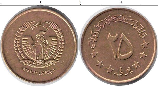 Картинка Монеты Афганистан 25 пул Латунь 1973