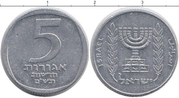 Картинка Монеты Израиль 5 агор Алюминий 1980