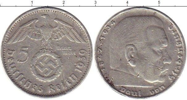 Картинка Монеты Третий Рейх 5 марок Серебро 1939