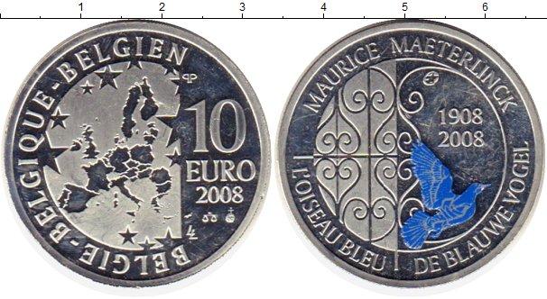Картинка Монеты Бельгия 10 евро Серебро 2008
