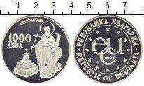 Изображение Монеты Болгария 1000 лев 1996 Серебро Proof