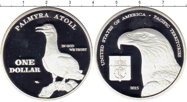 Картинка Монеты США 1 доллар Посеребрение 2015