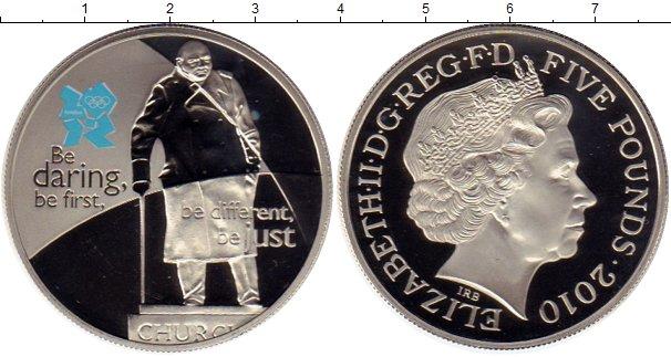 Картинка Монеты Великобритания 5 фунтов Медно-никель 2010