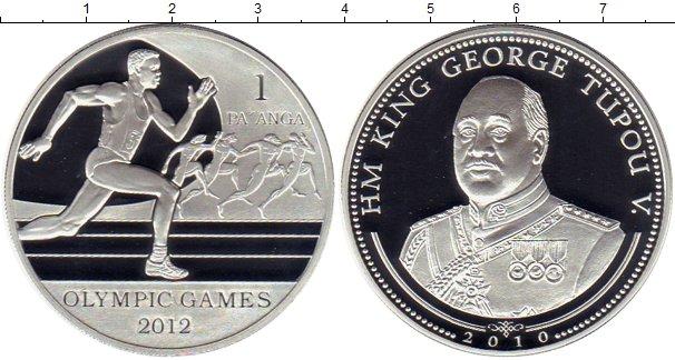 Картинка Монеты Тонга 1 паанга Серебро 2010